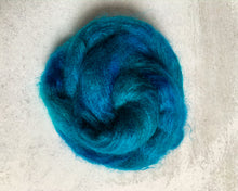 Load image into Gallery viewer, Electric Mrs. Peacock Mohair Silk Yarn