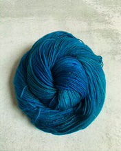 Load image into Gallery viewer, Electric Mrs. Peacock Sparkle Sock Yarn