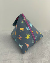 Load image into Gallery viewer, Rainbow Cats Zippered Sock-Sized Project Bag