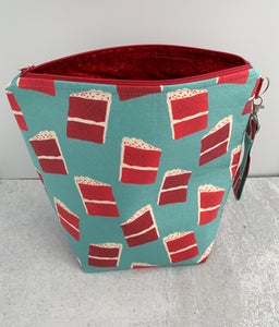 Red Velvet Cake Sweater Weather-Sized Project Bag