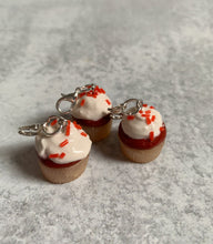 Load image into Gallery viewer, Red Velvet Cupcake Stitch Marker/Progress Keeper