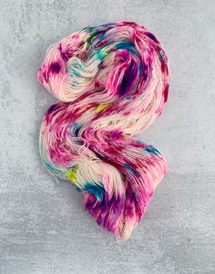 Unicorn Smoothie Targhee Sock Yarn