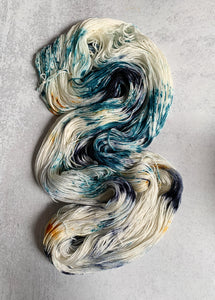 Starry Night BFL Silk Yarn