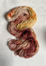 Load image into Gallery viewer, Tea and Oranges Bronze Sparkle Sock Yarn