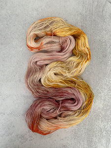 Tea and Oranges BFL Silk Yarn