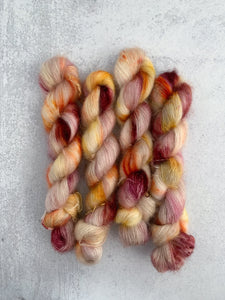 Tea and Oranges Mohair Silk Yarn
