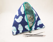 Load image into Gallery viewer, Butterflies Party Zippered Sock-Sized Project Bag