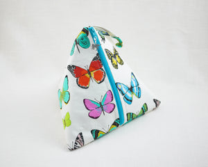 Butterflies Party Zippered Sock-Sized Project Bag