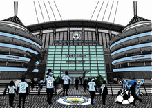 Load image into Gallery viewer, Etihad Stadium Manchester City print