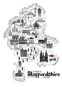Alternative map of Staffordshire