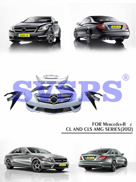 Black Pearl High Quality Body Kit For Mercedes-Benz CL&CLS AMG Style Front Rear Bumper Fender 2012 Year
