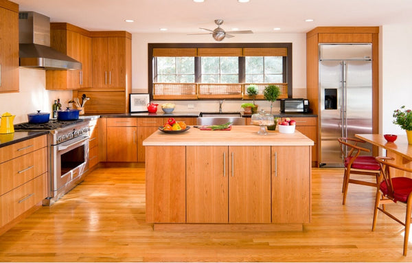 2017 hot sales new design classic custom made solid wood kitchen cabinets matt flat panel wooden kitchen cabinetery SKC1612023