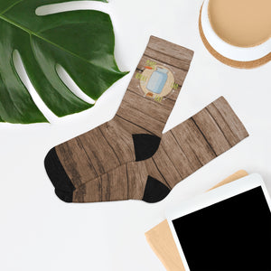 Plant, Can, Eat, Repeat Socks