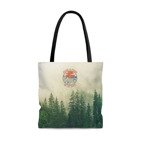 Peace Is Found On The Trail Tote Bag