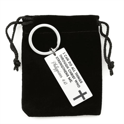 I Can Do All Things Through Christ Who Strengthens Me Keychain