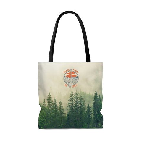 Image of Peace Is Found On The Trail Tote Bag