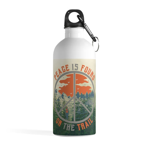 Peace Is Found On The Trail Water Bottle