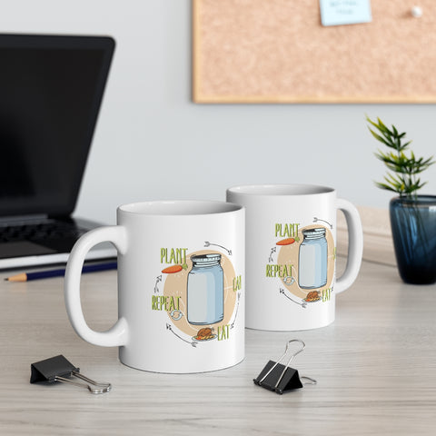 Plant, Can, Eat, Repeat Homesteading Mug