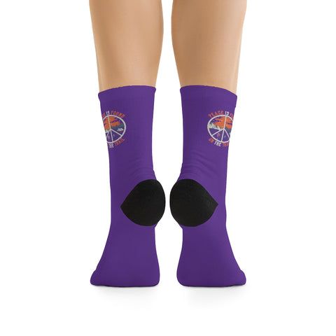 Image of Purple Peace Is Found On The Trail Socks
