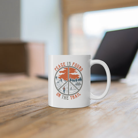 Peace Is Found on the Trail Mug