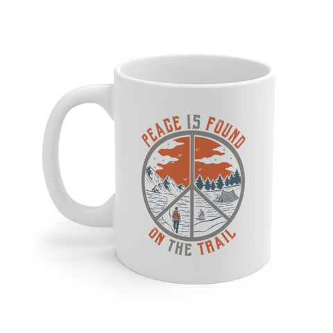 Image of Peace Is Found on the Trail Mug