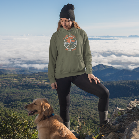 Image of Peace Is Found On The Trail Green Hoodie