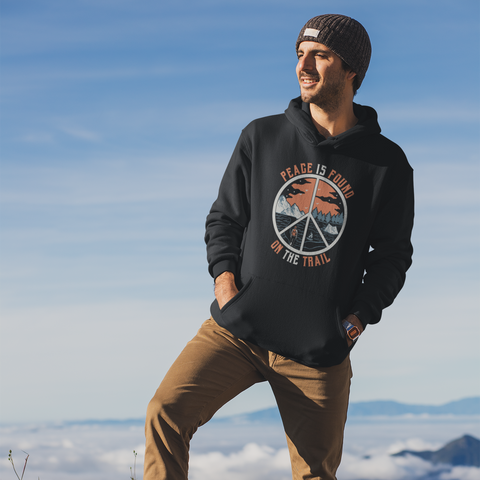 Image of Peace Is Found On The Trail Black Hoodie