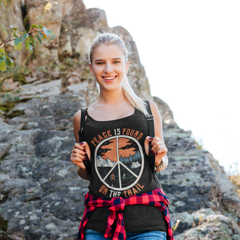 Image of Peace Is Found On The Trail Racerback Tank