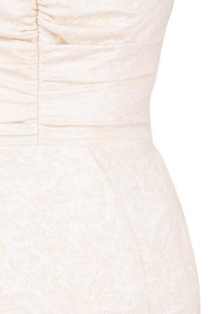 Ivory Jacquard Puff Sleeve Dress