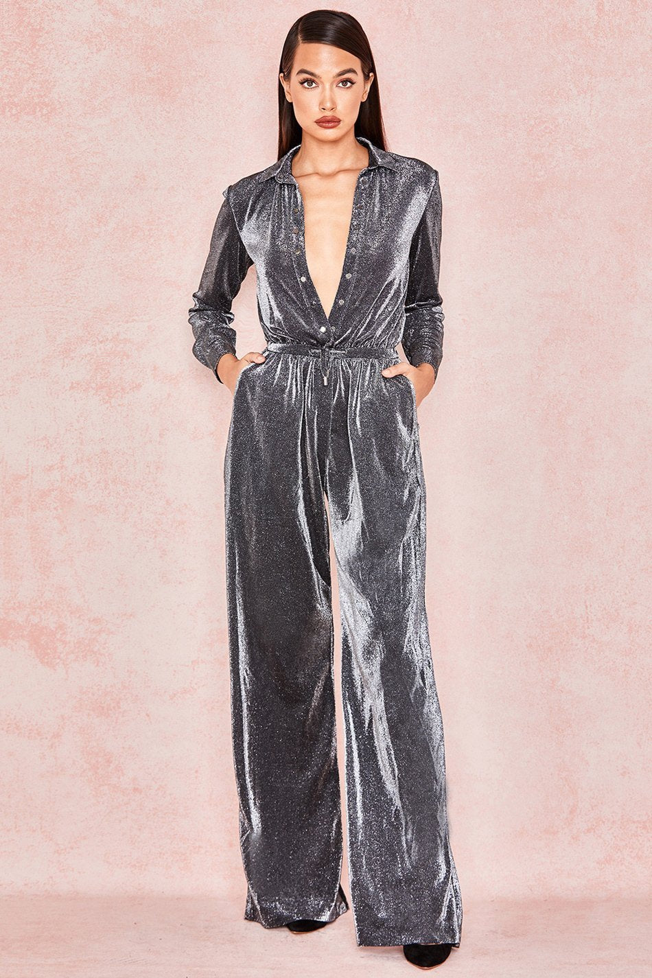 Luxurious Micropleat Jumpsuit