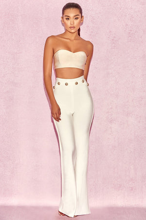 White High Waist Bandage Trousers