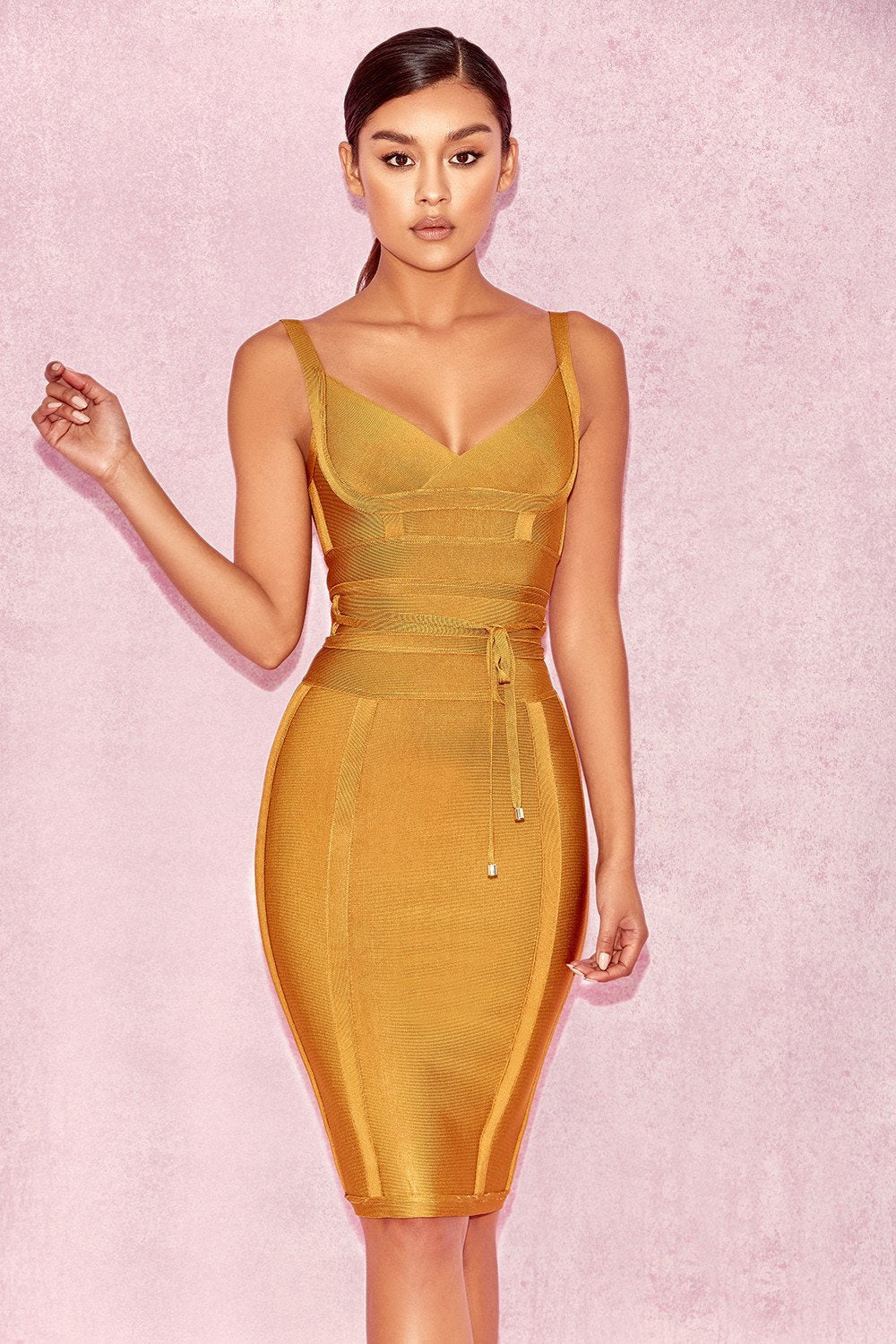 Ginger Tie Waist Bandage Dress