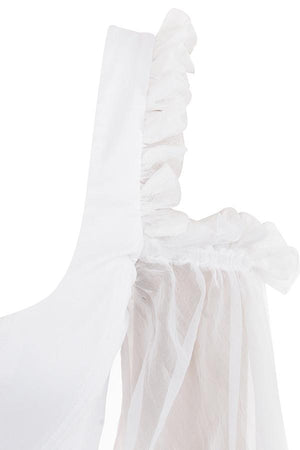 White Corset With Drop Sleeves