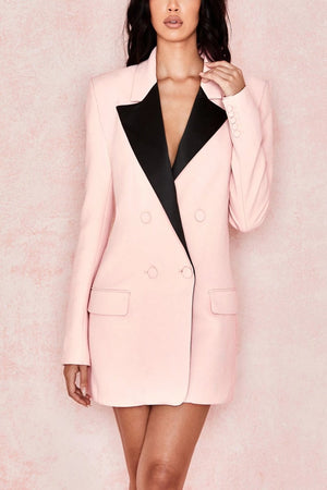 Blush + Black Blazer Dress