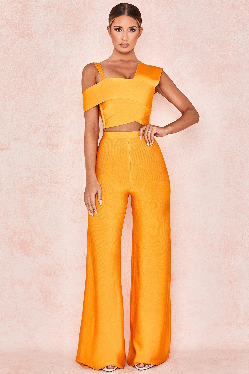 Mango Bandage Flared Trousers