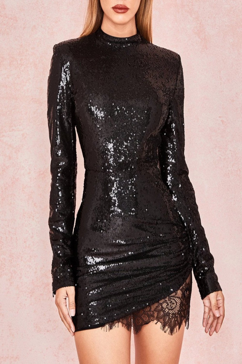 Black Sequinned Mini Dress - Limited Edition