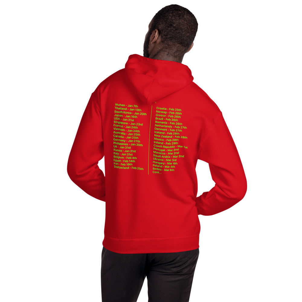 Coronavirus World Tour Hoodie (back print only) - unisex