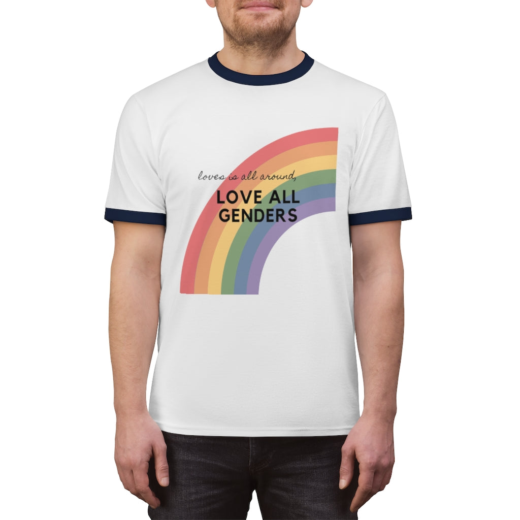 LOVES IS ALL AROUND Unisex Tee