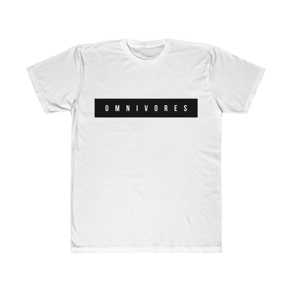 OMNIVORES Unisex Fitted Tee In White