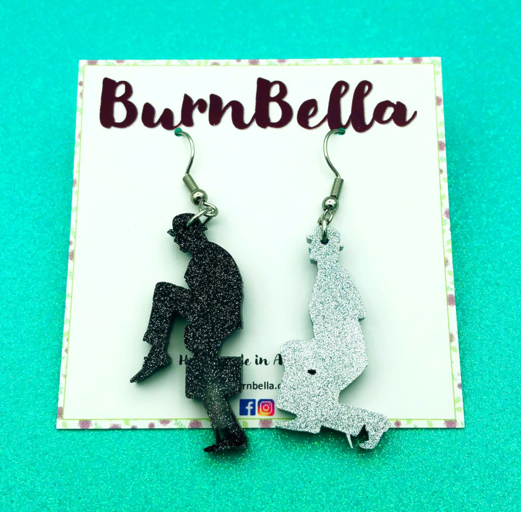 Ministry of silly walks hook earrings - BurnBella