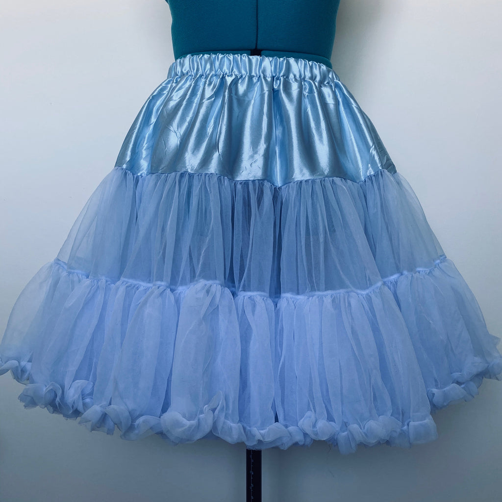 Powder blue luxury petticoat - BurnBella