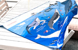 WHALES IDENTIFICATION DRY TOWEL