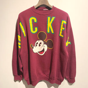 80s90s/Arch Logo MICKEY sweat shirt