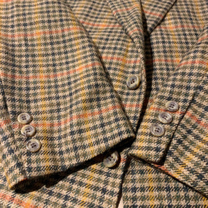 BROOKS BROTHERS/Check wool jacket/MADE IN USA/ size 39