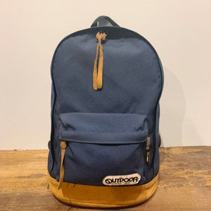 OUTDOOR/Leather Bottom backpack