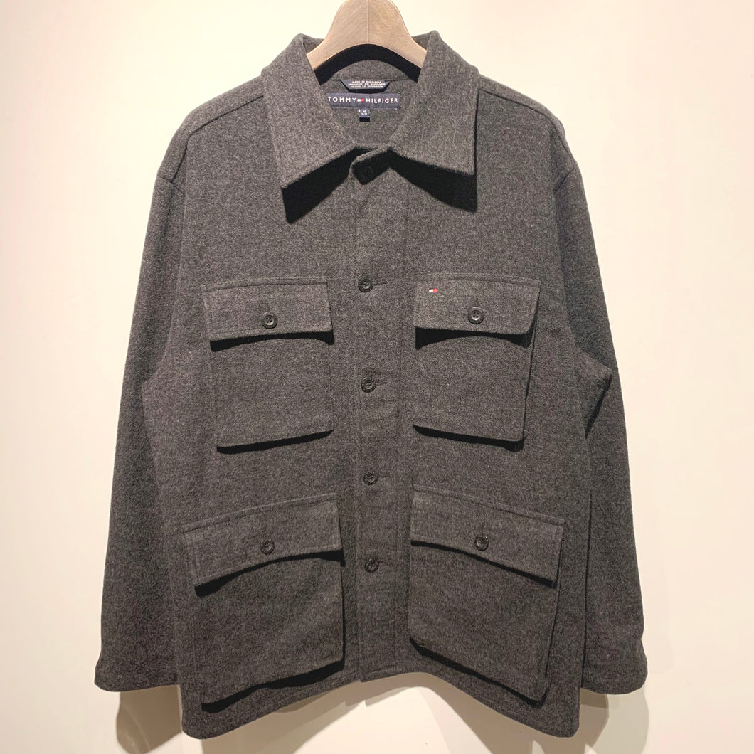 TOMMY HILFIGER/MELTON WOOL JACKET/ size M