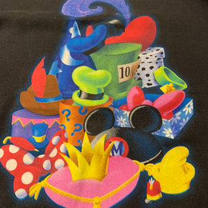90s/DISNEY/Disney Hat sweat shirt/MADE IN USA/ size L