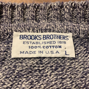 BROOKS BROTHERS/COTTON KNIT SWEATER/MADE IN USA/ size L