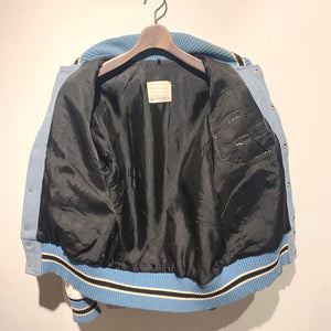 70s/DeLONG/Leather×Melton Award Jacket/ size 38