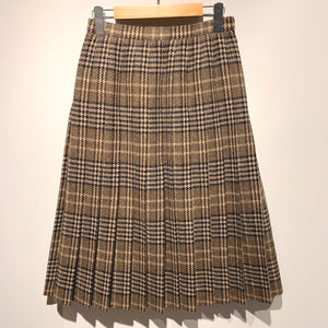 Burberrys/Check Wool  Pleats Skirt
